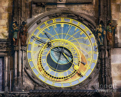 Astronomical Clock Art Print by George Oze