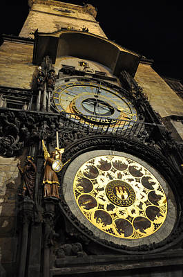 Astronomical Clock Art Print by Heidi Pix