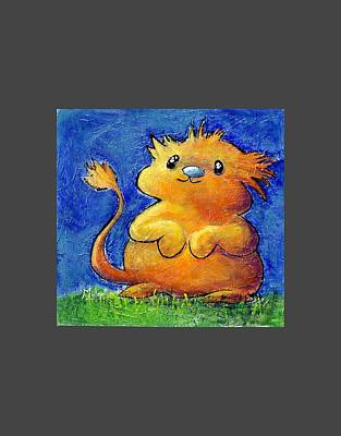 Hamster Baby Painting - Astu During Sunset. Narnian Hamster by Victoria Miller