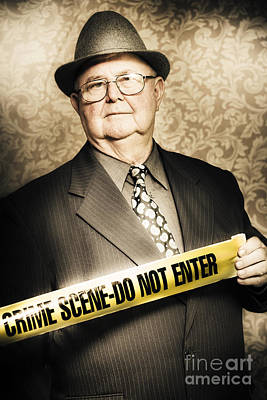 Astute Fifties Crime Scene Investigator Art Print by Jorgo Photography - Wall Art Gallery