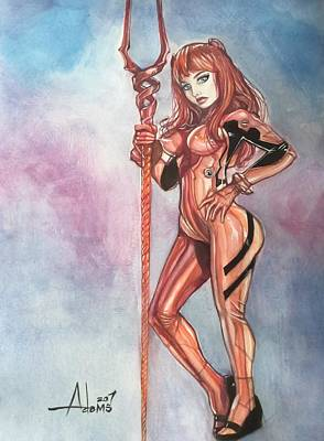 Painting - Asuka Langley by Jimmy Adams
