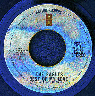 Digital Art - asylum Records and the Eagles by David Lee Thompson