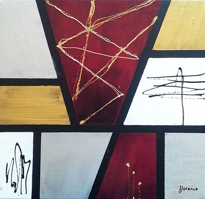 Abstract Painting - Asymmetric Simmetry by Florentina Maria Popescu