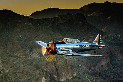 Photograph - AT-6 Texan over Arizona by Michael McAuliffe