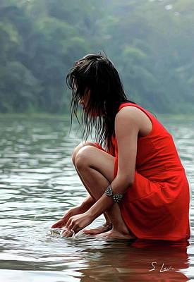 Photograph - At A Lake by S Art