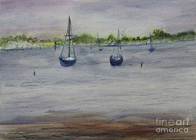 Painting - At Anchor by Donna Walsh
