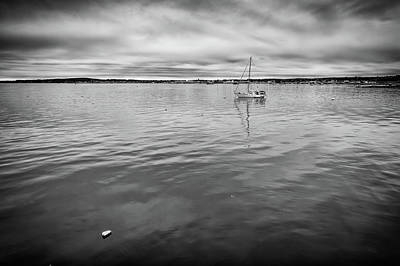 Penobscot Bay Photograph - At Anchor In The Harbor by Rick Berk