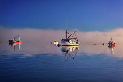 Photograph - At Anchor In The Morning Mist by Rick Berk