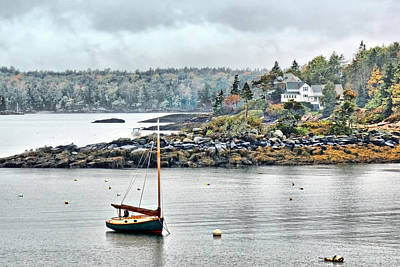 Photograph - At Anchor - Maine by Nikolyn McDonald