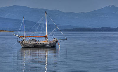 Photograph - At Anchor by Randy Hall