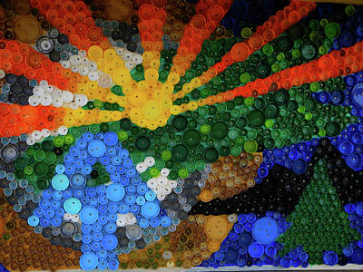 Photograph - At Art Made From Bottle Caps by Raymond Salani III