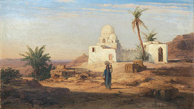 Painting - At Aswan. Egypt by Bernhard Fiedler
