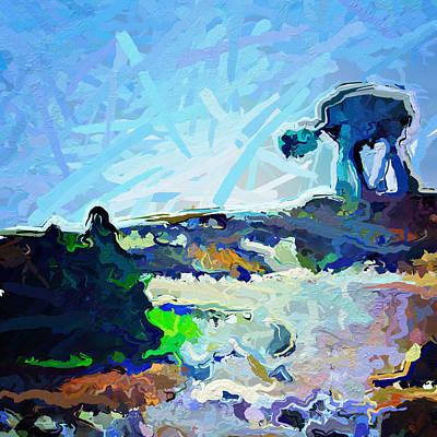 At At Walker Crushes The Landscape Art Print