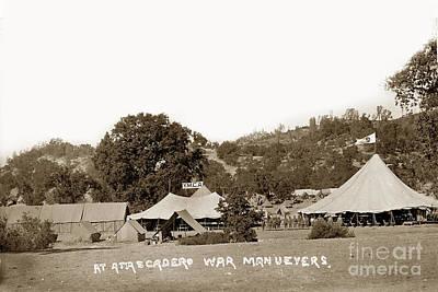 Photograph - At Atascadero War Manuevers Circa 1915 by California Views Mr Pat Hathaway Archives