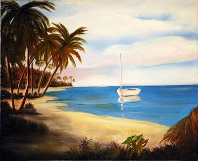 Painting - At Bay by Phil Burton
