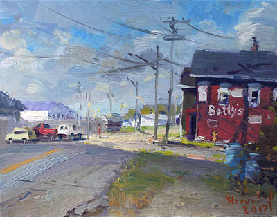 Main Street Painting - At Bettys Grill North Tonawanda by Ylli Haruni