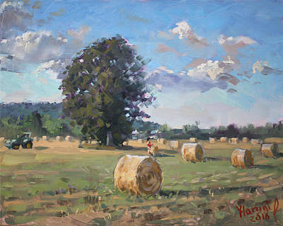 Tractor Painting - At Cathy's Farm Georgetown by Ylli Haruni