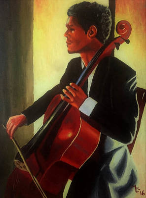 Painting - At Concert by Mats Eriksson