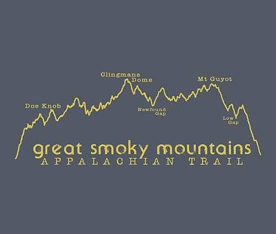 Digital Art - At Elevation Profile Gsm Mustard by Heather Applegate