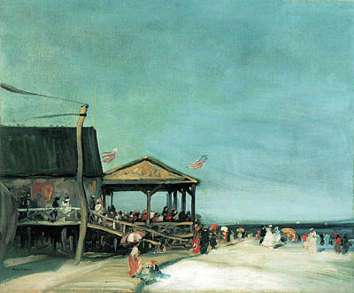 Photograph - At Far Rockaway by Robert Henri