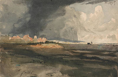 Approaching Storm Painting - At Hailsham, Sussex - A Storm Approaching by Samuel Palmer