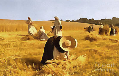 Sowing Painting - At Harvest by Sergey Lukashin