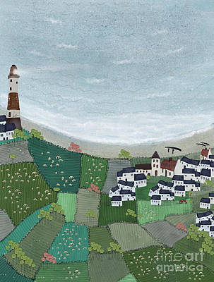 Painting - At Home By The Sea  by Bleu Bri