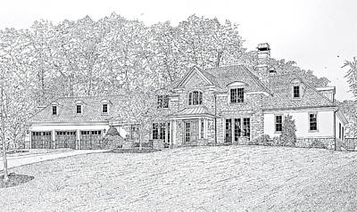 Drawing - At Home In Devon by Ira Shander