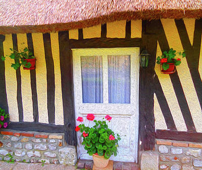 Digital Art - At Home In Normandy by Ann Johndro-Collins