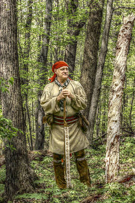 Seven Years War Digital Art - At Home In The Forest by Randy Steele