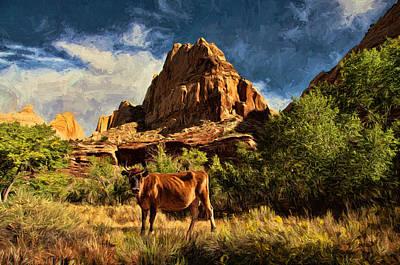 Tan Photograph - At Home On The Range by John K Woodruff