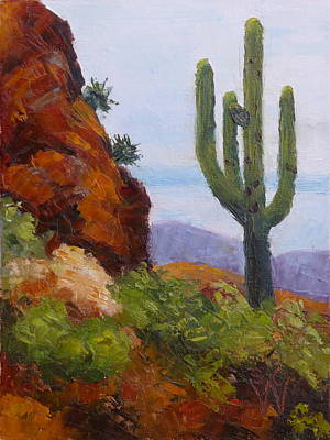 Painting - At Javelina Rocks by Susan Woodward