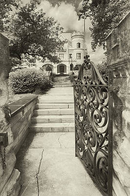 Photograph - At Joslyn's Gate In Black And White by Susan Rissi Tregoning