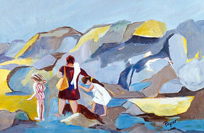 Art Print featuring the painting At Laguna Beach by Betty Pieper