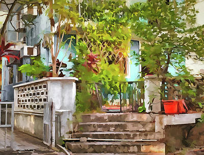 Digital Art - at Lamma Island Hong Kong by Yury Malkov