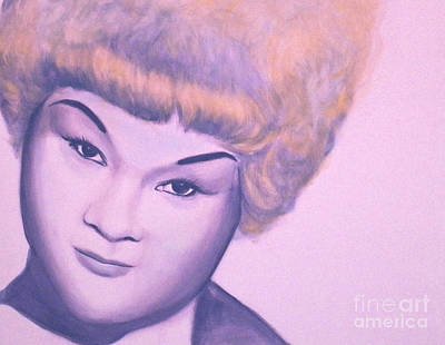 Etta James Painting - At Last by Derek Donnelly