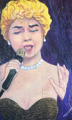 Painting - At Last Etta James by Todd  Peterson