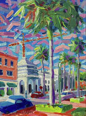 Painting - At Mizner Park by Ralph Papa