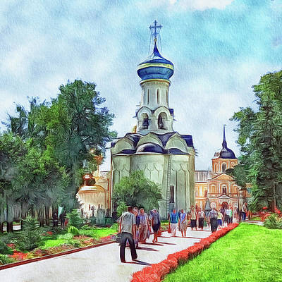 Digital Art - At Monastery by Yury Malkov