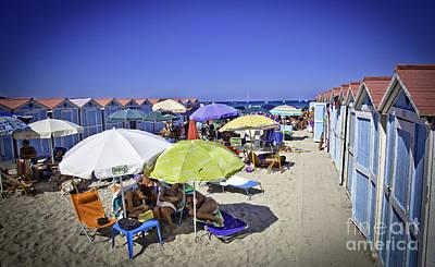 At Mondello Beach - Sicily Art Print by Madeline Ellis