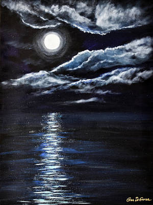 Painting - At Moonlight by Gina De Gorna