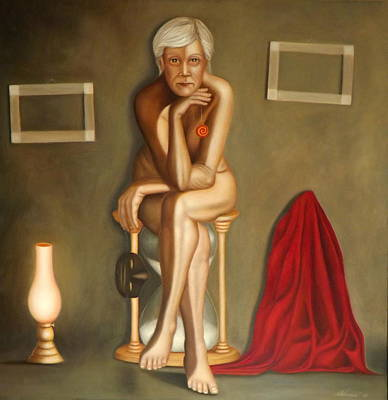 Nude Painting - At Nightfall by Alessandra Veccia