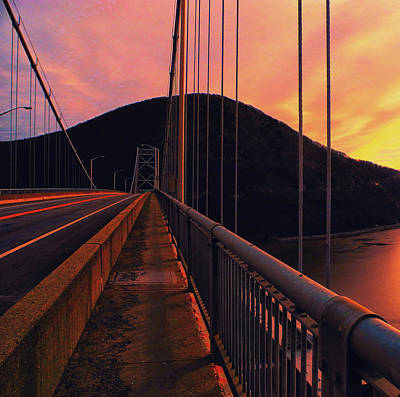 Photograph - At Ny Bear Mountain Bridge 2 by Raymond Salani III