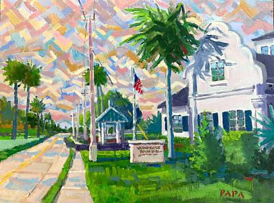 Painting - At Ocean Ridge by Ralph Papa