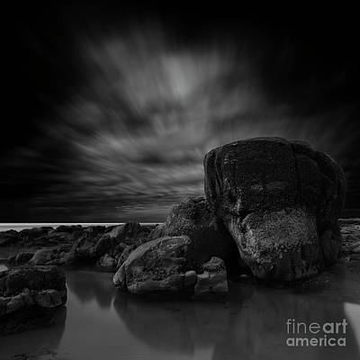 Beach Royalty-Free and Rights-Managed Images - At Ona Beach, Oregon by Masako Metz