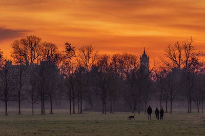 Photograph - At Park With Sunset by Roberto Pagani