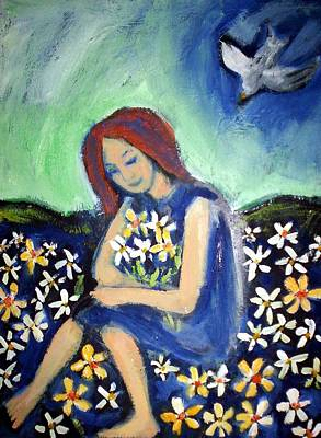 Print featuring the painting At Peace by Winsome Gunning