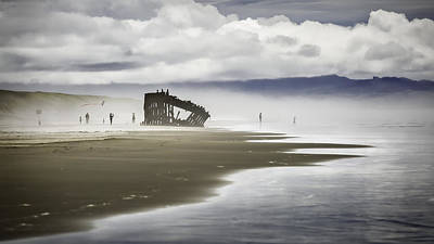 Photograph - At Peter Iredale Shipwreck by Eduard Moldoveanu
