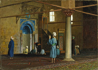 Jean-leon Gerome Painting - At Prayer. Cairo by Jean-Leon Gerome