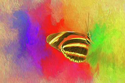 Butterflys Painting - At Rest by Ches Black